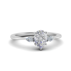Pear Diamond Cathedral Ring