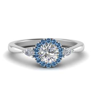 Halo Ring With Pear Accent