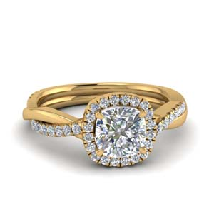 Vine Halo Diamond Engagement Ring