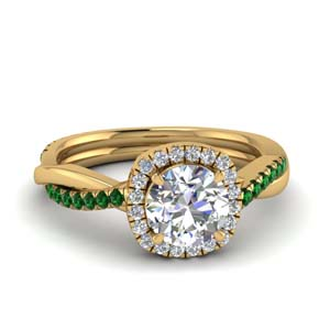 Emerald Vine Engagement Ring
