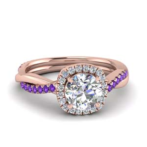 Twist Purple Topaz Vine Ring