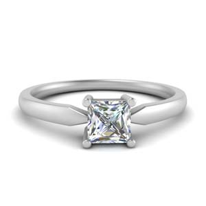 Platinum Tapered Solitaire Ring