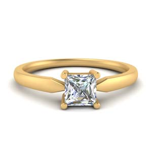 Tapered Single Stone Ring
