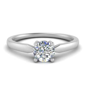 Popular Solitaire Round Diamond Rings