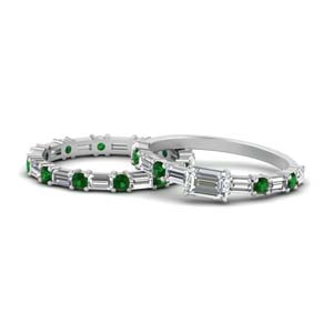 Horizontal Emerald Cut Ring