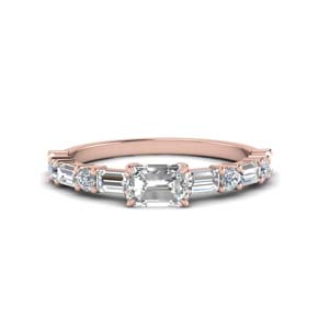 Horizontal Baguette Engagement Ring