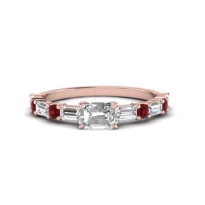 Ruby Modern Engagement Ring