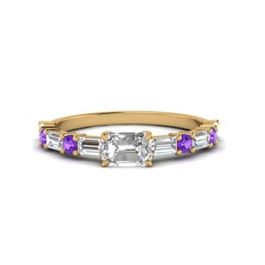 Violet Topaz Womens Wedding Ring