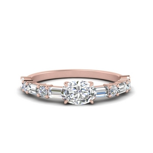 Horizontal Oval Cut Engagement Ring