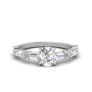 Platinum Round Diamond Wedding Ring