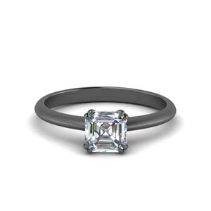 Solitaire Asscher Cut Ring