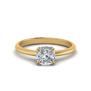 Solitaire Tapered Engagement Ring