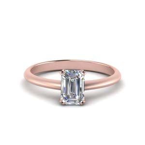 Knife Edge Solitaire Diamond Ring