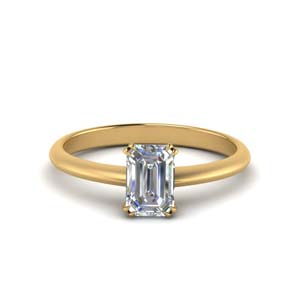 Solitaire Rings With Emerald Cut