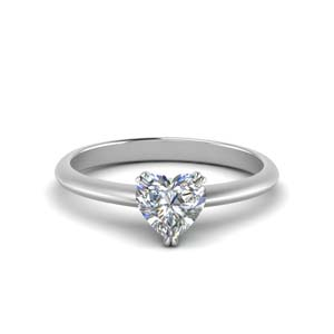 Solitaire Knife Edge Diamond Ring