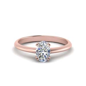 Oval Shaped Solitaire Diamond Ring