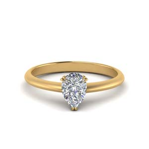 Teardrop Single Diamond Ring