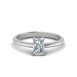 Radiant Cut Solitaire Ring