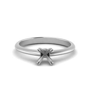 Solitaire Knife Edge Ring Setting