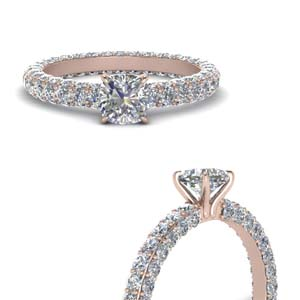Side Stone Eternity Engagement Ring