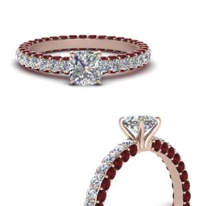 Ruby Eternity Engagement Ring