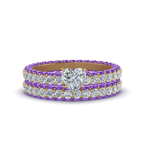Purple Topaz Eternity Ring Set
