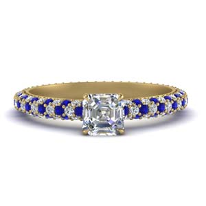 Eternity Asscher Diamond Ring