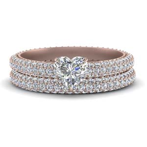 Pave Eternity Diamond Wedding Set