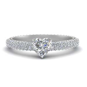 Pave Set Eternity Diamond Ring