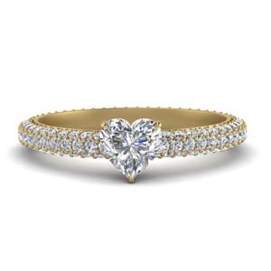Eternity Heart Diamond Ring