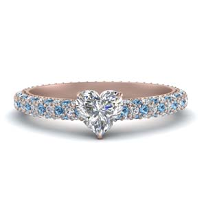 Pave Heart Diamond Ring