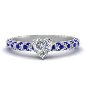 Pave Eternity Diamond Ring