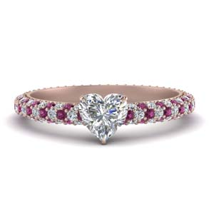 Heart Shaped Pave Eternity Ring