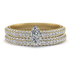 Marquise Diamond Bridal Ring Sets