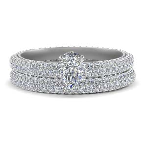 Pave Eternity Wedding Ring Set