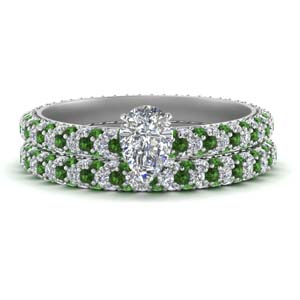 Eternity Emerald Bridal Set
