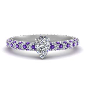 Platinum Pave Purple Topaz Ring