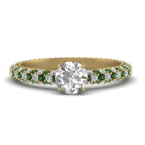 Pave Eternity Emerald Ring