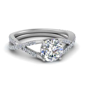 Prong Round Diamond Shank Ring