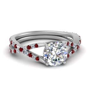 Twisted Vine Ruby Wedding Ring