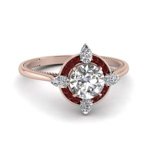 Halo Channel Set Diamond Ring