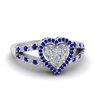 Heart Halo Sapphire Ring