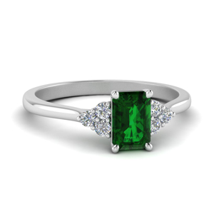 Cathedral Emerald Wedding Ring