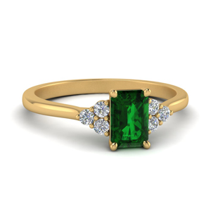 Gold Emerald Cluster Ring