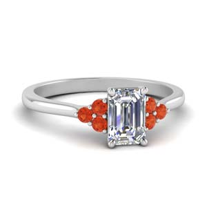 7 Stone Orange Topaz Ring