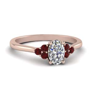 Petite Cathedral Ruby Ring