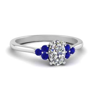 Petite Cathedral Sapphire Ring