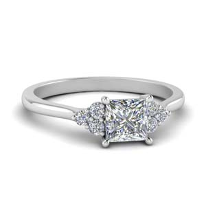 Petite Princess Cut Engagement Ring