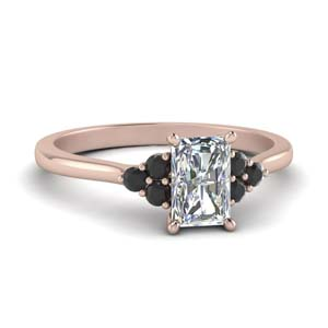 Seven Stone Black Diamond Ring