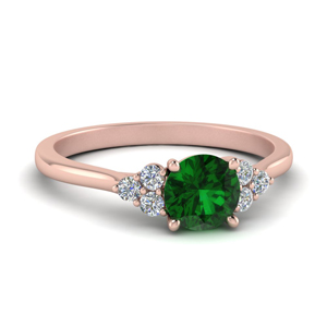 Petite Green Emerald Ring